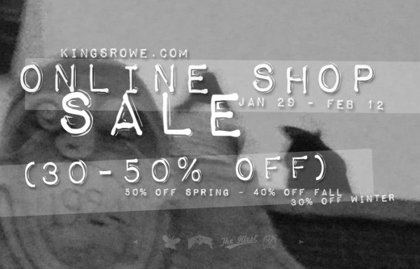 KINGSROWE APPAREL SALE AT KINGSROWE.COM UP TO 50%