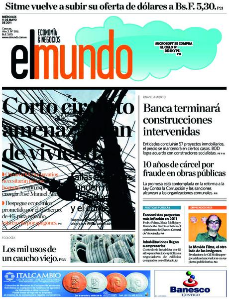 Invitamos a leer El Mundo Economía & Negocios mañana 11 de mayo, tendremos la siguiente portada  bciyja