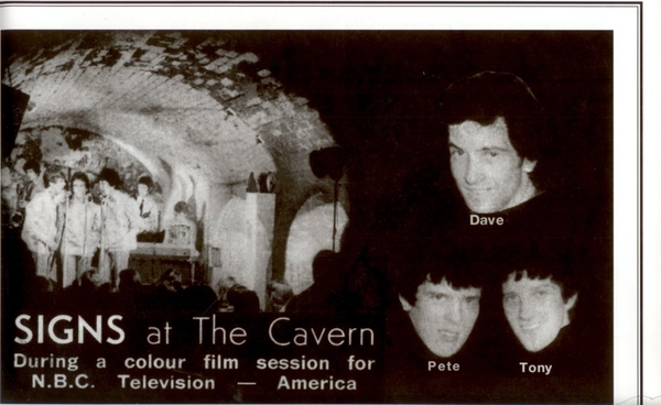 Here is a pic of my dad in his band, taken at The Cavern Club in the 60's.