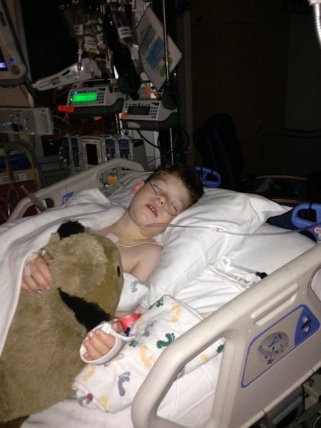 I'm staying w Paul 2nite & docs say he's on track 4 a strong recovery-we're very blessed-Thnk u all @childrenshealth