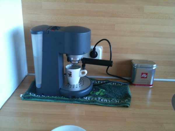 Tijd voor een wel verdiend kopje koffie.