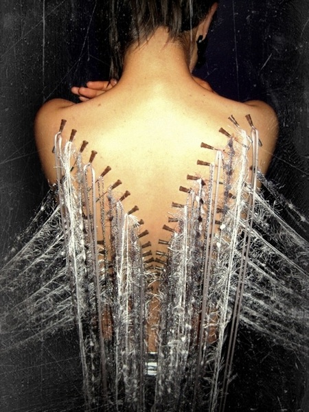 Angel wings needleplay.