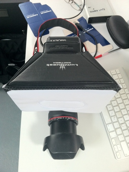 The #LumiQuest Softbox. My new best friend and good pal to all #wedding #photographers