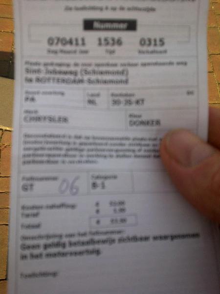 Kl#*!/rr vette bon bij parkeren rotterdam! Netjes betaald met parkline en toch ellende. Webcare team!? Vast niet