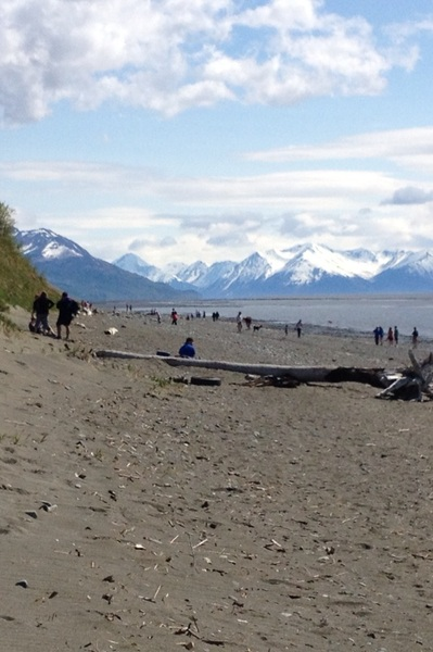 ♬Come on Jessica, come on Tori -let's go to the beach you won't be soary!♫   #Anchorage #Alaska #akholiday